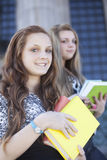 Happy teen students Stock Photo