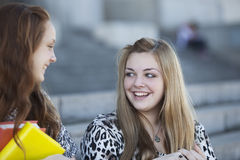Happy teen students Stock Image
