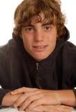 Happy teen wearing braces Stock Photo