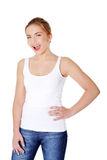 Happy teen woman Stock Image