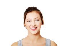 Happy teen woman Stock Photos