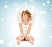 Happy teenage angel girl Royalty Free Stock Photography