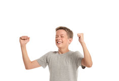 Happy teenage boy Royalty Free Stock Photography