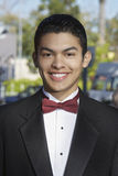 Happy Teenage Boy In Tuxedo At Quinceanera Royalty Free Stock Images