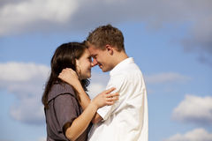 Happy teenage couple Stock Images