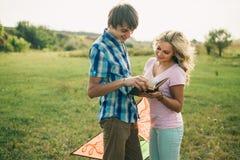 Happy teenage couple Stock Photography