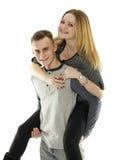 Happy teenage couple Royalty Free Stock Photo