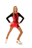 Happy Teenage Figure Skater Stock Images