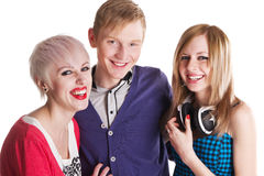 Happy teenage friends Royalty Free Stock Photos