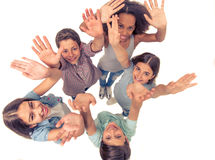 Happy teenage friends Royalty Free Stock Photography