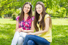 Happy teenage friends Stock Images