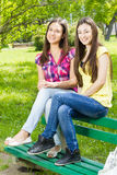 Happy teenage friends Royalty Free Stock Photo