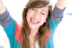 Happy teenage girl Royalty Free Stock Images
