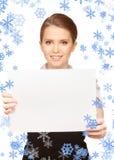 Happy teenage girl with blank board Stock Photos
