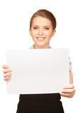 Happy teenage girl with blank board Royalty Free Stock Image