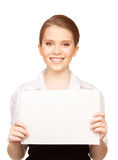 Happy teenage girl with blank board Stock Images