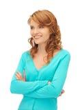 Happy teenage girl Stock Photos