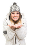 Happy teenage girl enjoying wintertime Royalty Free Stock Photos