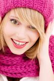 Happy teenage girl in hat Royalty Free Stock Photography