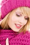 Happy teenage girl in hat Royalty Free Stock Photo