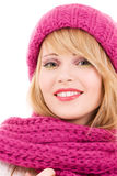 Happy teenage girl in hat Royalty Free Stock Photos