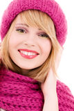 Happy teenage girl in hat Stock Photography