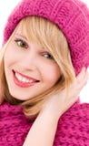 Happy teenage girl in hat Stock Photo