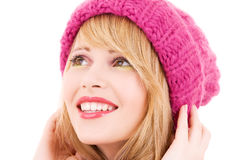 Happy teenage girl in hat Stock Image