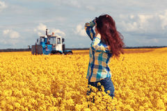 Happy teenage girl in nature Royalty Free Stock Photos