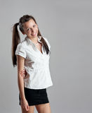 Happy teenage girl portrait Royalty Free Stock Images