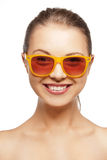 Happy teenage girl in shades Royalty Free Stock Photography