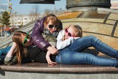 Happy teenage girls Stock Image