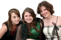 Happy Teenage Girls Royalty Free Stock Photography