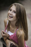 Happy Teenage Looking Up Royalty Free Stock Photo