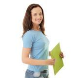 Happy teenage student girl Stock Photos