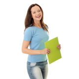 Happy teenage student girl Stock Images