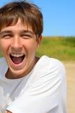 Happy teenager. On the beach Stock Photo