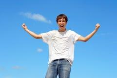 Happy teenager Stock Photos