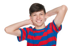Happy teenager boy Royalty Free Stock Photo