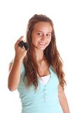 Happy teenager with car key Royalty Free Stock Photo