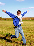 Happy Teenager in the Field Royalty Free Stock Photography