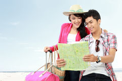 Happy teenager going on vacation Stock Photo