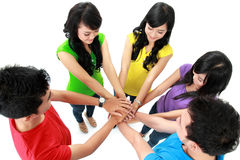 Happy Teenager Group Stock Images