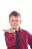 Happy teenager holding money Royalty Free Stock Photos