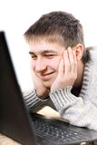 Happy teenager with notebook Royalty Free Stock Photos