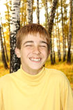 Happy teenager outdoor Stock Images