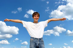 Happy Teenager outdoor Royalty Free Stock Photography