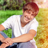 Happy Teenager outdoor Royalty Free Stock Photo
