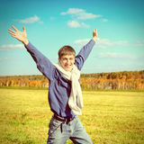 Happy Teenager outdoor Royalty Free Stock Images