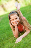 Happy teenager outdoors Stock Image